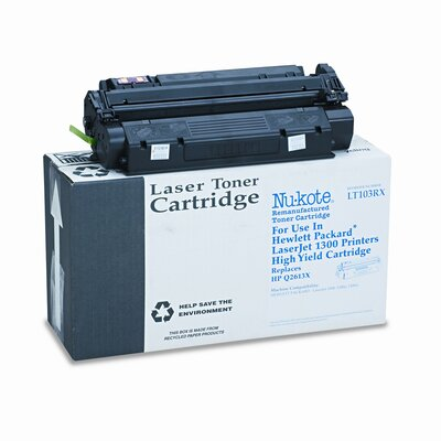 Nu-Kote® LT103RX (Q2613X) Remanufactured Toner Cartridge, High-Yield, Black