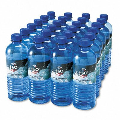 Office Snax Bottled Spring Water, 0.5 Liter, 24 Bottles/Carton