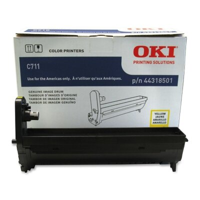 OKI Image Drum, 20000 Page Yield, Yellow