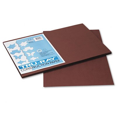 Pacon Corporation Tru-Ray Construction Paper, Sulphite, 12 x 18, Dark Brown, 50 Sheets