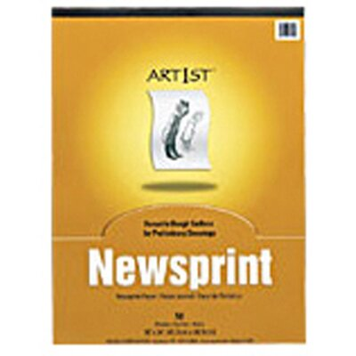 Pacon Corporation Art1st Newsprint Pad 12x18 50 Sht