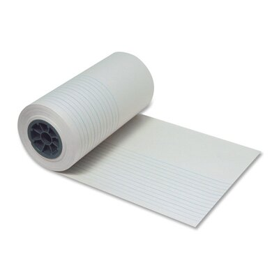 "Pacon Corporation Ruled Newsprint Roll, 7/8"" Ruling, 7/16"",12""x500', White"