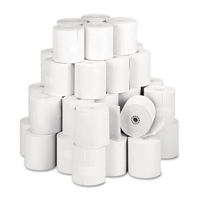 PM Company Specialty Thermal Cash Register Rolls, 3-1/8&quot;w, 273'l, White, 50/carton                                                      