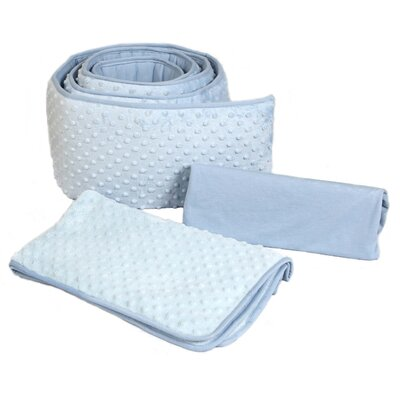 Dimple Velour 3 Piece Portacrib Bedding Set