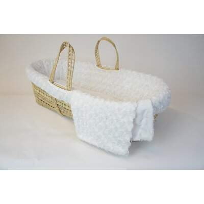 Tadpoles Twisted Fur Moses Basket Set