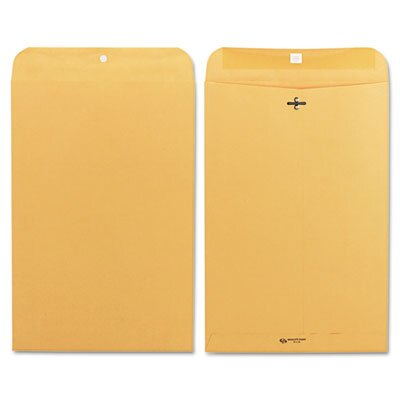 Quality Park Products Clasp Envelope, 10 x 15, 28lb, Light Brown, 100/box