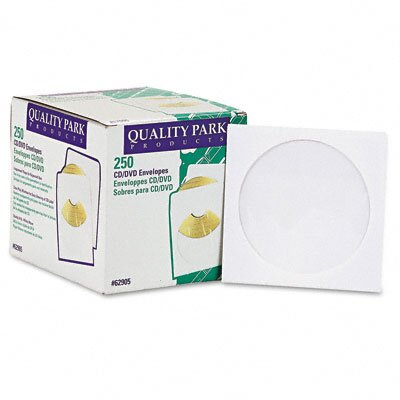 Quality Park Products CD / DVD Sleeve, 250/Box