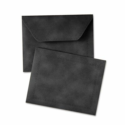 Quality Park Products Document Carrier, Letter, 2&quot; Expansion, Black, 1/ea