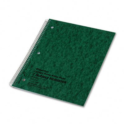 Rediform Office Products Subject Wirebound Notebook, College/Margin Rule, Ltr, WE, 80 Sheets/pad