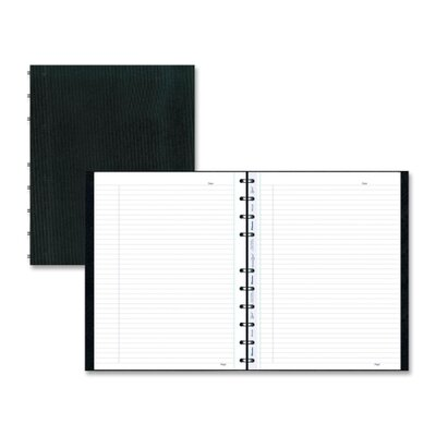 Rediform Office Products Notebook, College/Margin, 75 Sheets, 11&quot;x8-1/2&quot;, Black