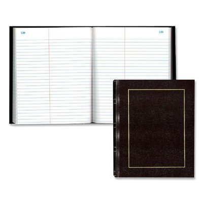 Rediform Office Products Law Record Book,w/Center Line, 150 Sheets, 9-3/4&quot;x8&quot;, Burgundy