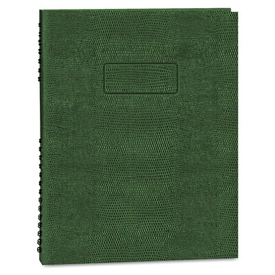 Rediform Office Products Exec Wirebound Notebook, College/Margin Rule, 8-1/2x11, GRN, 200 Sheets