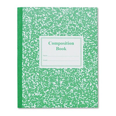 Roaring Spring Paper Products Grade School Ruled Composition Book, 9-3/4 x 7-3/4, 50 Sheets, Green