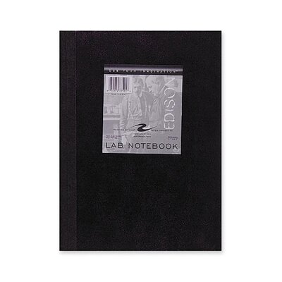 "Roaring Spring Paper Products Lab Notebook, Quad Ruled, 5""x5"", 60 Sheets, Tape Bound"