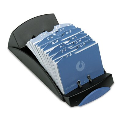 Rolodex Corporation Open Tray Business Card File