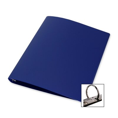 "Samsill Corporation 3-Ring Binder,28 Gauge Poly,1"" Capacity,11""x8-1/2"",Blue"