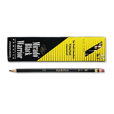 Sanford Ink Corporation Mirado Black Warrior Woodcase Pencil, HB #2, Black Matte Brl, Dozen