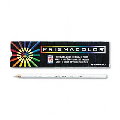Sanford Ink Corporation Premier Colored Pencil, White Lead/Barrel, Dozen