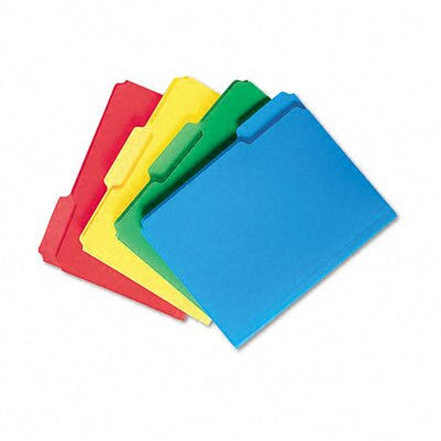 Smead Manufacturing Company Waterproof Poly File Folders, 1/3 Cut Top Tab, 24/Box