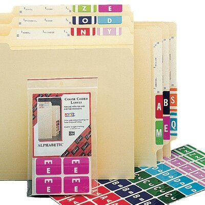 Smead Manufacturing Company Alpha-Z Color-Coded Second Letter Labels, Letter A, 100/Pack, Letter A, Red