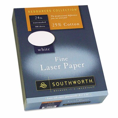 Southworth Company 25% Cotton Laser Paper, 500/Box