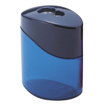 Staedtler, Inc. Pencil Sharpener, 2 Hole, Oval, Blue/Aqua/Pink