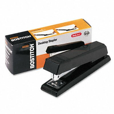 Stanley Bostitch AntiJam Full Strip Stapler, 20 Sheet Capacity, Black