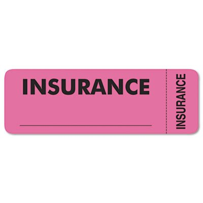 Tabbies Medical Labels for Insurance, 3 x 1, Fluorescent Pink, 250/Roll