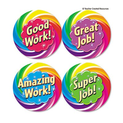 Teacher Created Resources Wear Em Badges Good Work, 32/Pack