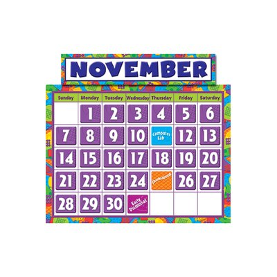 Teacher Created Resources Abstract Calendar Bbs