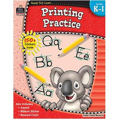 Teacher Created Resources Ready Set Learn Printing Practice