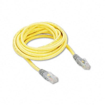 Belkin Cat5e 10/100 Base-T Crossover Patch Cable, 10ft, Yellow