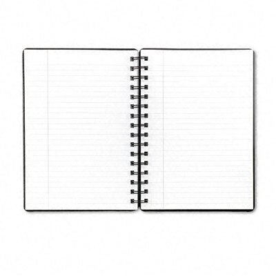 Tops Business Forms Black Leatherette Notebook, College Rule, 8 x 10-1/2, White, 96 Sheets/Pad