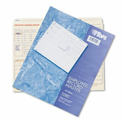 Tops Business Forms Employee Record Master File Jacket, 20/Pack