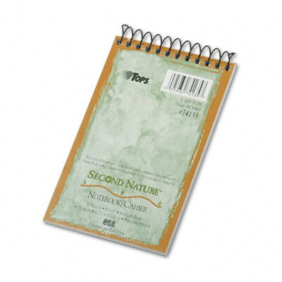 Tops Business Forms Second Nature Subject Wirebound Notebook, Narrow Rule, 3 x 5, WE, 50 Sheets
