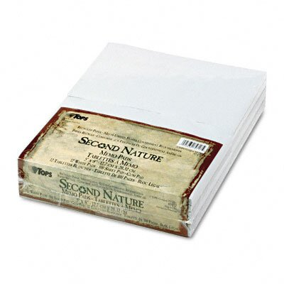 "Tops Business Forms Second Nature Recycled Scratch Pad, Unruled, 5"" x 8"", 100 Sheets, 12-Pack"