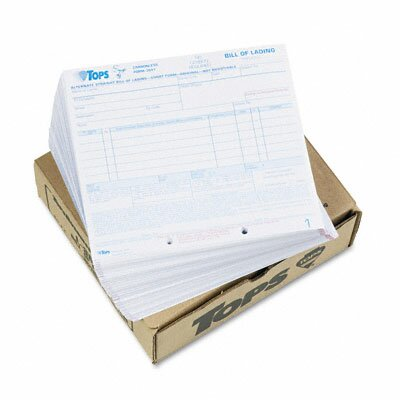 Tops Business Forms Hazardous Material Short Form, Three-Part Carbonless, 250 Forms