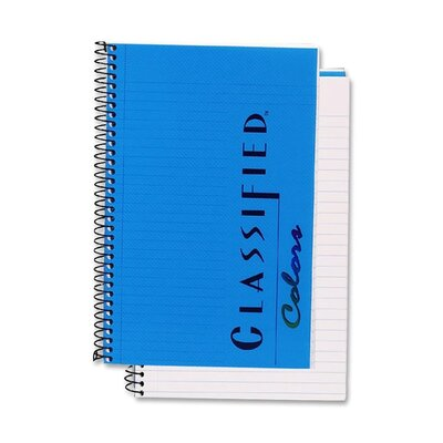 Tops Business Forms Notebook, Narrow Rule, 5-1/2 x 8-1/2, 100 Sheets, Blue
