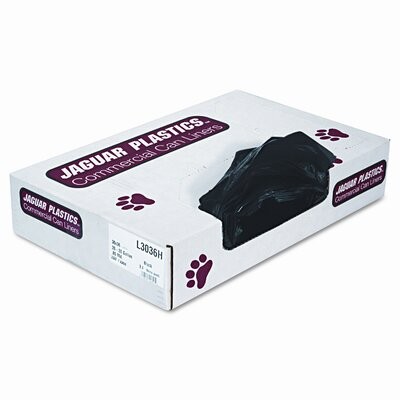 Unisan Industrial Strength Low-Density Commercial Can Liners, 30 gal, Black, 200