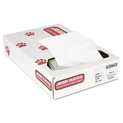 Unisan Super Extra-Heavy Liners, 60 gallon, 16 microns, 38 x 60, Natural, 100/carton