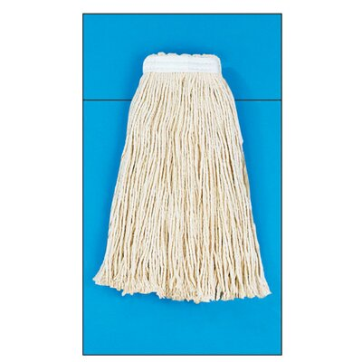 Unisan Cotton Fiber Cut-End Mop Head with Value Standard Head in White