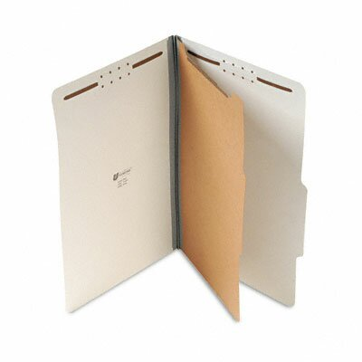 Universal® Pressboard Classification Folder, Legal, Four-Section, 10/Box
