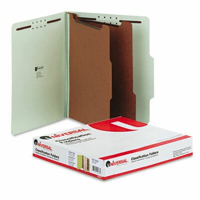 Universal® Pressboard Classification Folder, Letter, Six-Section, 10/Box