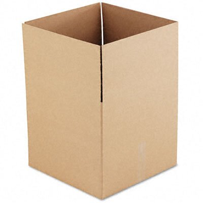 Universal® Corrugated Kraft Fixed-Depth Shipping Carton, 15/Bundle