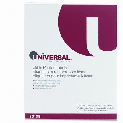 Universal® Laser Printer Permanent Labels, 600/Box