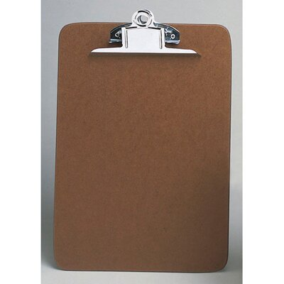Universal® Hardboard Clipboard in Brown