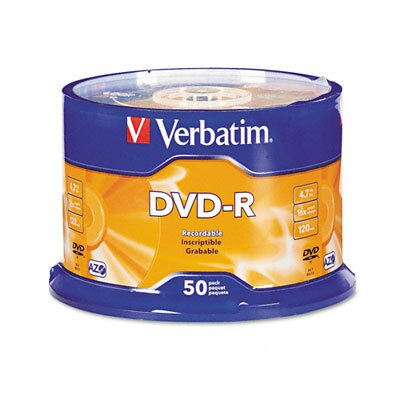 Verbatim Corporation Spindle Dvd-R Discs, 4.7Gb, 16X, 50/Pack