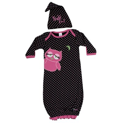Sozo Night Owl Gown and Cap Set in Black