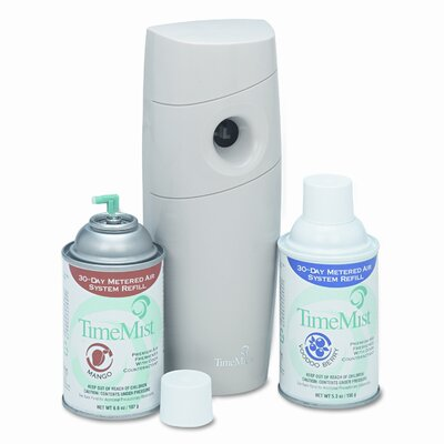 WATERBURY COMPANIES                                Timemist Metered Fragrance Dispenser Kit with 2 Refills Cans, 6.6 Oz. Aerosol