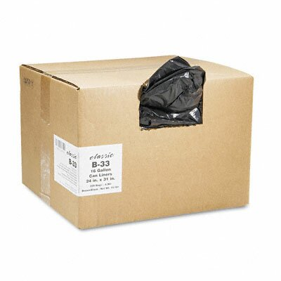 Webster Industries Classic 2-Ply Low-Density Can Liners, 16Gal, 0.6Mil, 24 X 31, 500/Carton